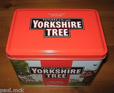 Yorkshire 80 Tea Bag Storage Tin