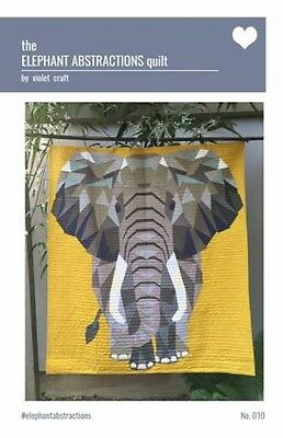 Violet Craft - ELEPHANT Abstractions Quilt KIT - Fabric & Pattern  VC0010