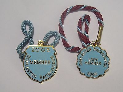 Pair of ANNUAL MEMBER'S BADGES ~ DONCASTER RACECOURSE 2005