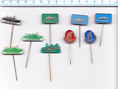 JOB LOT Collection Vintage HOLLAND AMERICA LINE pin badges 1960s SS AMSTERDAM