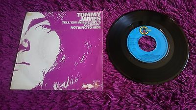 "Tommy James ‎– Tell'em Willie Boy's A' Comin' ,Vinyl, 7"", 1972 , Spain ,MO 1259"