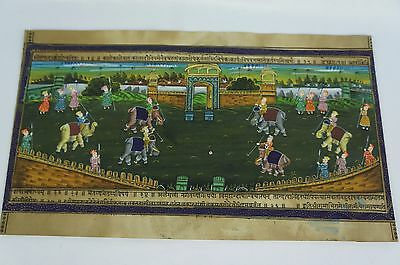 Rare Hindu / India Color Print hand painted ? ca. late 19th c [Y8-W6-A9-E9]