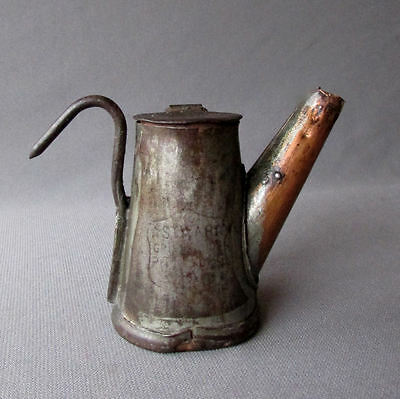 Small ANTIQUE Tin & Copper GRIER BROS. - STAR - MINERS LAMP Pittsburgh Pa.