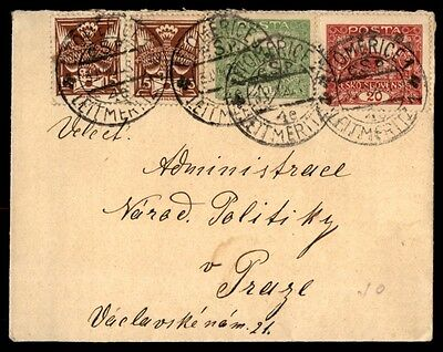 Homerice Slovenia multicolored franking cover mailed