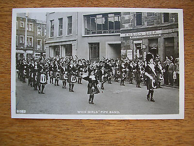 Wick Girl's Pipe Band Parading Thro' Town Centre, R/p