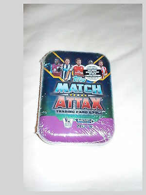 Topps Match Attax Trading Card Game 2015/16 Sealed Tin With 50 Cards
