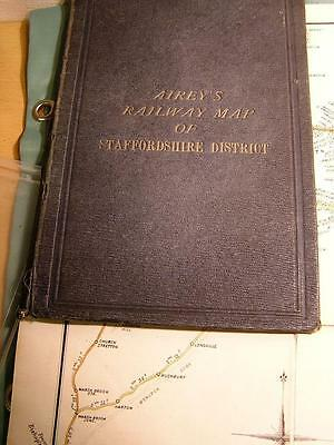 Airey's 1887 Railway Map Of Staffordshire District Rare Vgc