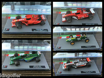 F1 car collection various models  1:43 scale New and sealed model only