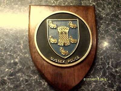 Sussex Police mess wall plaque shield crest Constabulary FREE UK POSTAGE