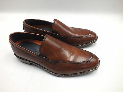 Men's COLE HAAN Grand.Os Genuine Brown Leather Loafers Shoes - L44