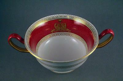 Beautiful Quality Wedgwood Ruby Gilded Soup Coupe With Sphynx