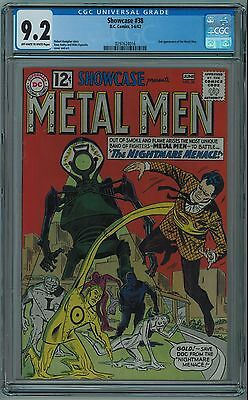 Showcase #38 Cgc 9.2 2Nd Metal Men High Grade Ow/w Pages 1962