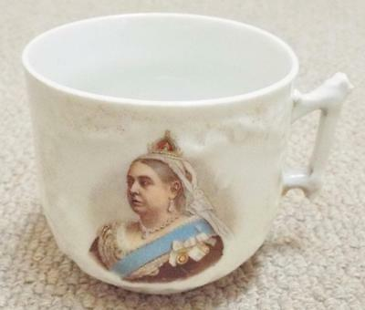 Antique 1897 Queen Victoria Diamond Jubilee Ceramic Cup - Germany