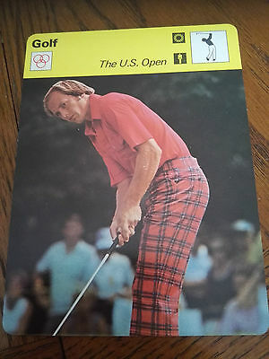 GOLF - Jerry PATE Rookie US OPEN - Sportscaster Photo Fact Card