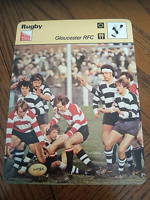 RUGBY UNION - GLOUCESTER RFC - Sportscaster Photo Fact Card
