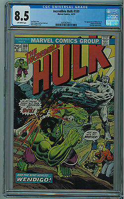 Hulk #180 Cgc 8.5 1St Wolverine In Cameo Off-White Pages 1974