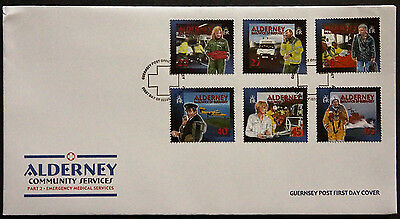 Gb Alderney 2002 Community Services Emergency Medical Services Set 6 Fdc