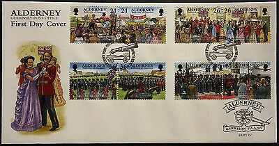 Gb Alderney 2000 Garrison Island Events Set 8 Fdc