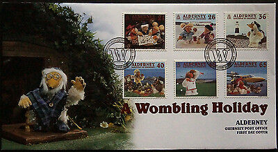 Gb Alderney 2000 Wombling Holiday Set 6 Fdc