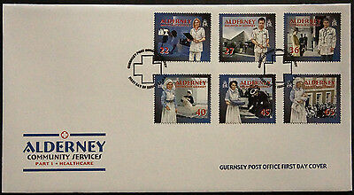 Gb Alderney 2001 Community Services Healthcare Set 6 Fdc