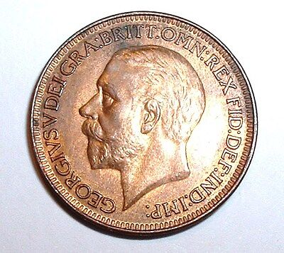 Rare UNC 1926 Britain - Farthing - George V KM# 825  Very Good Detail NO RESERVE