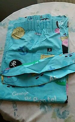 """peppa pig curtains George the pirate approx 61"""" w 53"""" d"""