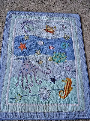Baby Crib Blanket and Fitted Sheet Sea Creatures