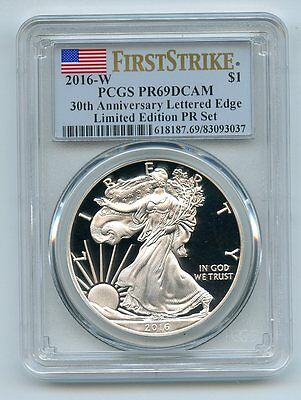 2016 W $1 American Silver Eagle PCGS PR69DCAM First Strike Limited Edition