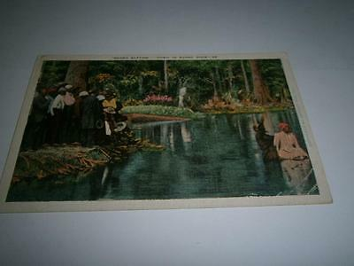 Antique Postcard-Negro Baptism -Down In Sunny Dixie