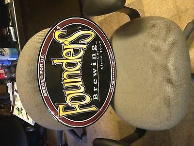 Founders beer tin metal sign