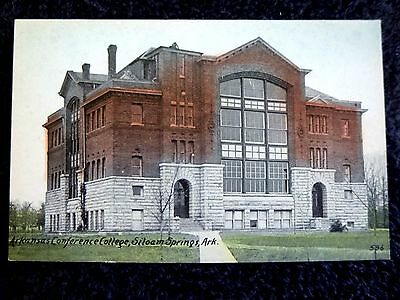 Early 1900's The Arkansas Conference College in Siloam Springs, AR Arkansas PC