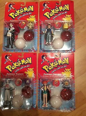 Pokemon Trainers Bundle Of 4 Figures Sealed On Card Original Made In 1999