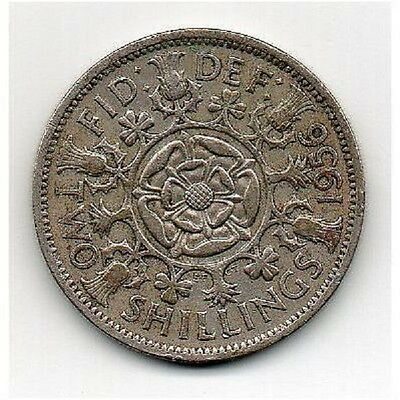 GREAT BRITAIN FLORIN (Two Shillings) 1956 Elizabeth II