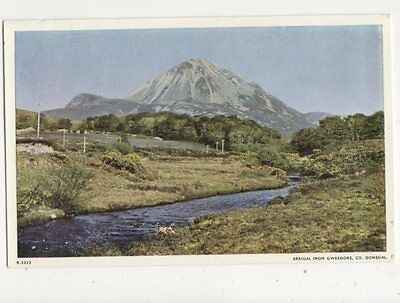 Errigal From Gweedore Co Donegal Ireland Vintage Postcard 422a