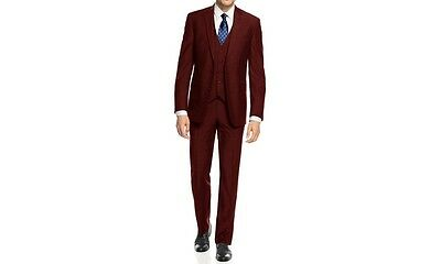 NEW Braveman Men'sslim Fit 3-piece Suit: Navy/40sx34w