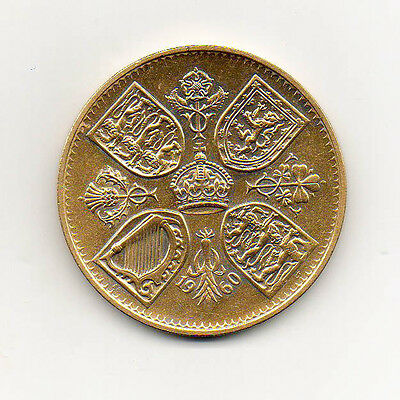 24K Gold Plated Crown Five Shillings 1960