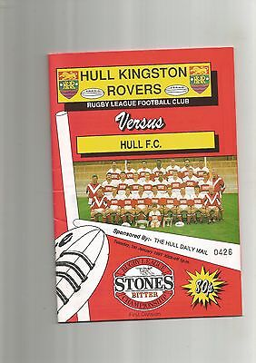 Rugby League Hull KR v Hull FC 1st January 1991