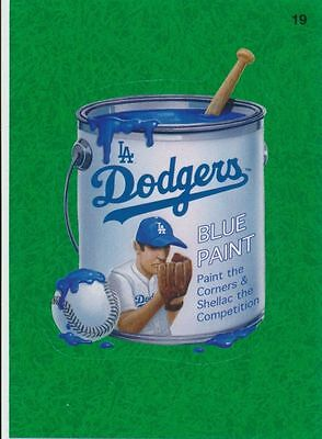 2016 Topps Wacky Packages Mlb - Los Angeles Dodgers Blue Paint - Green Grass!!!