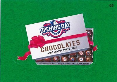 2016 Topps Wacky Packages Mlb - Opening Day Chocolates - Green Grass Insert!!