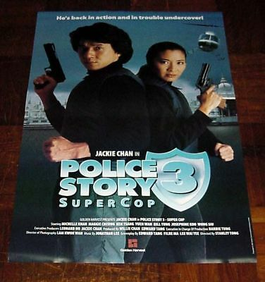 """Jackie Chan """"Police Story 3 Super Cop"""" Michelle Yeoh Overseas English POSTER"""
