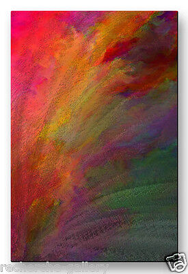 Metal Wall Art Colorful Contemporary Abstract Fanfare by Paul McGuire
