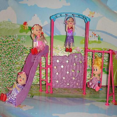 1/6 Playground Slide Climber for Barbie Kelly Dolls House Miniature Furniture