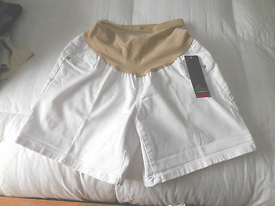 NWT  Oh Baby by Motherhood White Maternity Shorts  Sz. Large  NEW