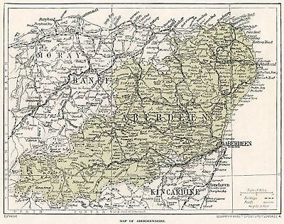 1923 map of Scotland: old Aberdeen in mount SUPERB