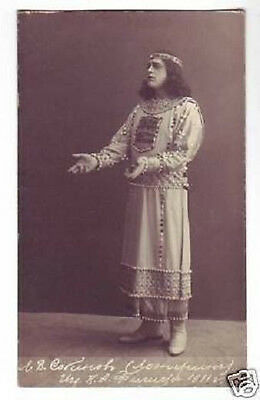 SOBINOV Russian OPERA Singer TENOR Vintage PHOTO PC bd