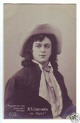 SOBINOV Russian OPERA Singer TENOR Vintage PHOTO PC gg