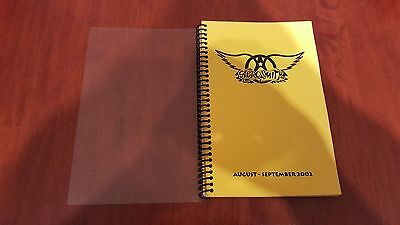 Aerosmith 2002 Tour Itinerary Book Aug/sep Crew And Band Only Super Rare