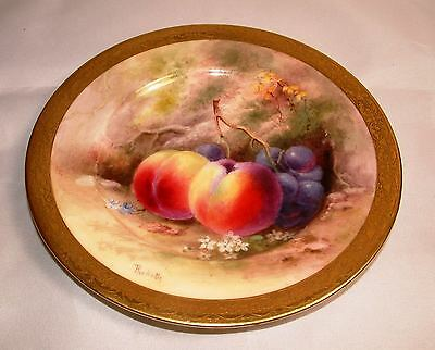 SUPERB ROYAL WORCESTER FRUIT PAINTED PLATE - SIGNED 'RICKETTS' c.1917 - PERFECT