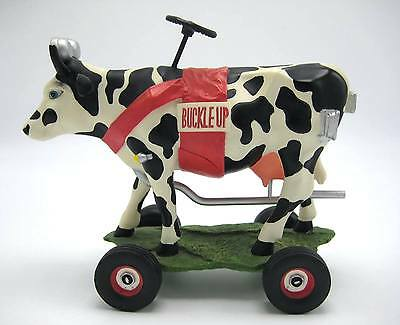 Cows on Parade Buckle Up Betsy Retired Figurine Kansas City