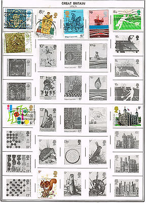 121 Great Britain 1976-1985  stamps